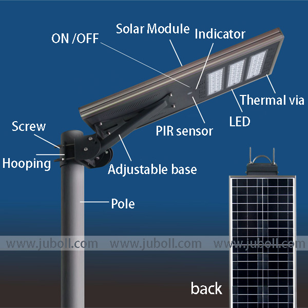 All In One integrated Solar Street Light