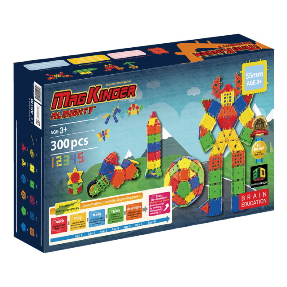 Magkinder 55mm Almighty Building Block Creator Set 300 PCS
