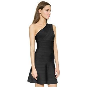 Charming Elegant 2015 Hot Sale Pink Rayon Formal Evening Dress Sexy One Shoulder Celebrity Dresses