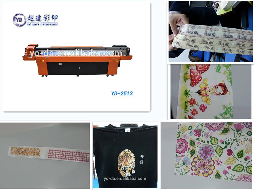 high quality textile leather wall paper flexo inkjet UV printer