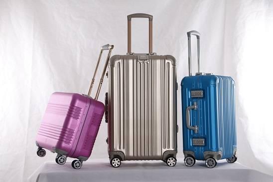 Fashion big capacity wholesale luggage aluminum trolley case