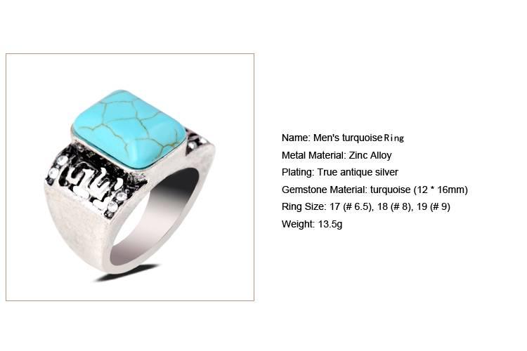 Men's turquoise Ring/CT-R0011