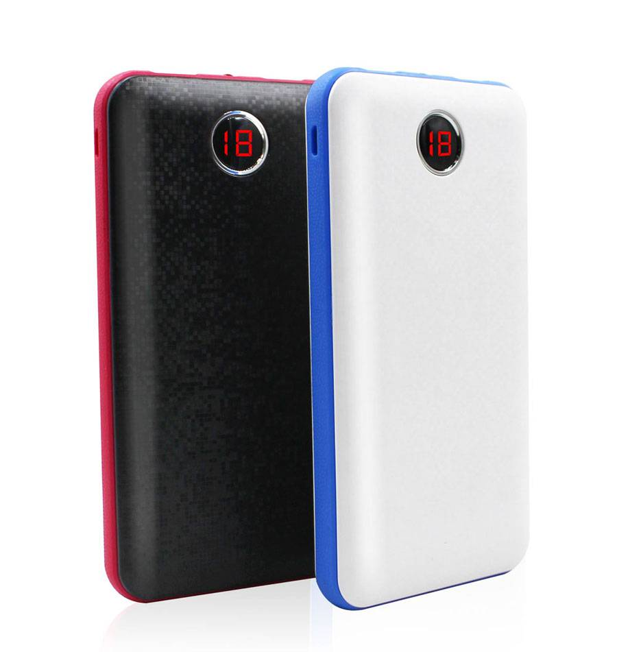 SJ-P100DS 10000mAh  dual shot LCD  high quality strong capacity  potable power bank with LED