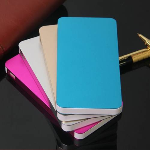 Dual usb output high capacity 6000mah with led torch super thin power bank