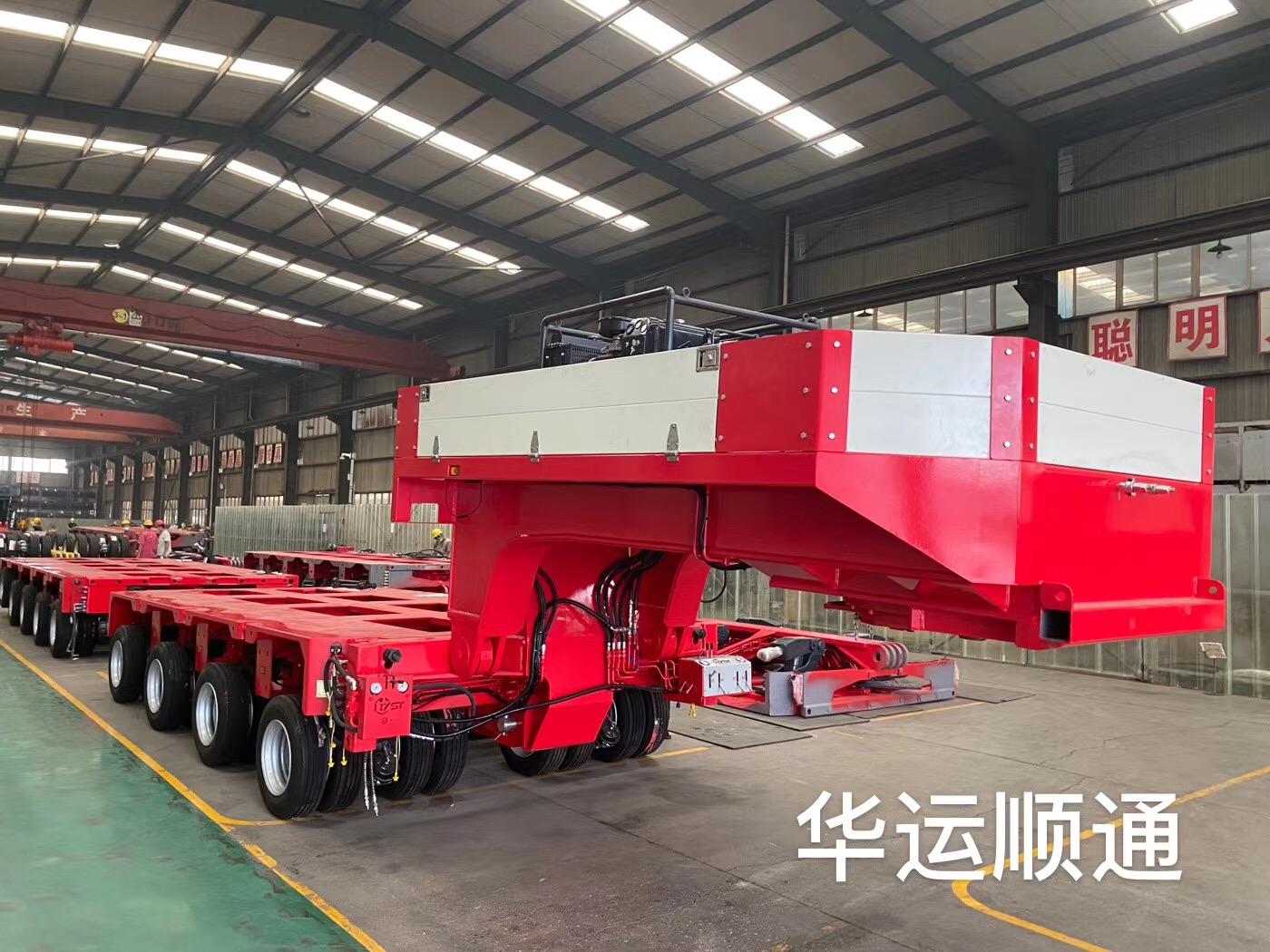 heavy duty modular semi trailer 100tons 200tons multi axle hydraulic low bed truck trailer for sale