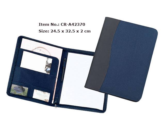 High quantity custom leather file conference folder With passport holder