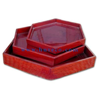 Hexagonal Tray Set