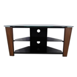 silk-screen tempered metal with MDF glass tv stand