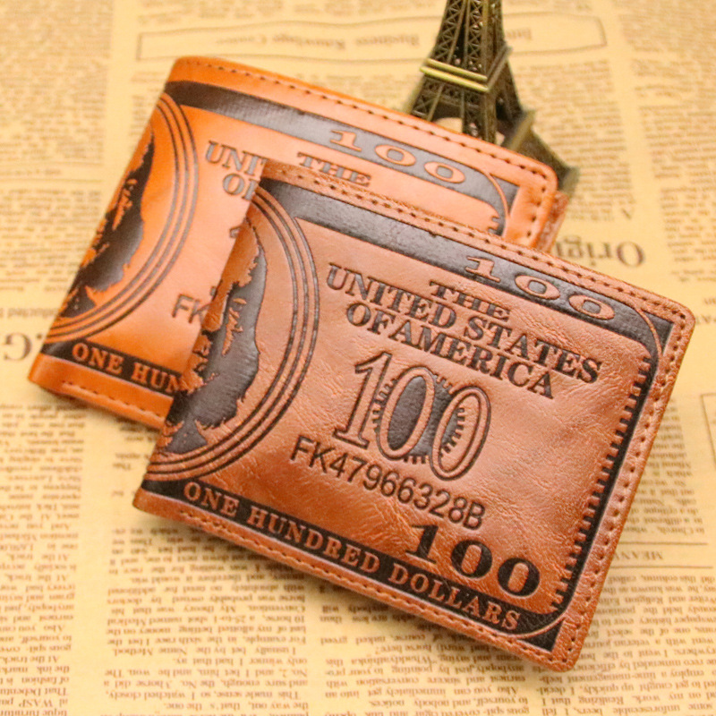 New Version PU Leather US Dollars Man Wallet