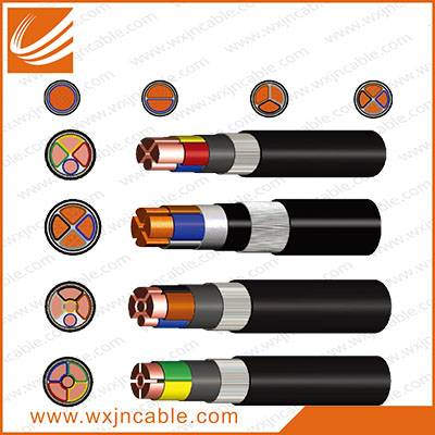 0.6/1KV VV33-Copper Conductor PVC Insulated Steel Wire Armoured PE Sheathed Power Cable
