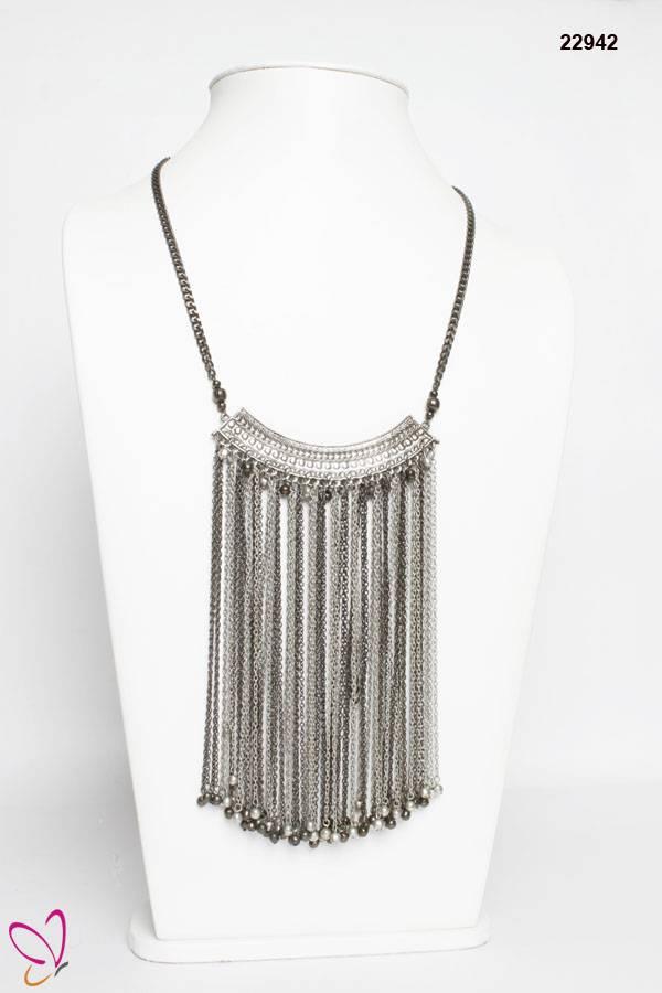 Ethnic Style Necklace, Metallic Necklace