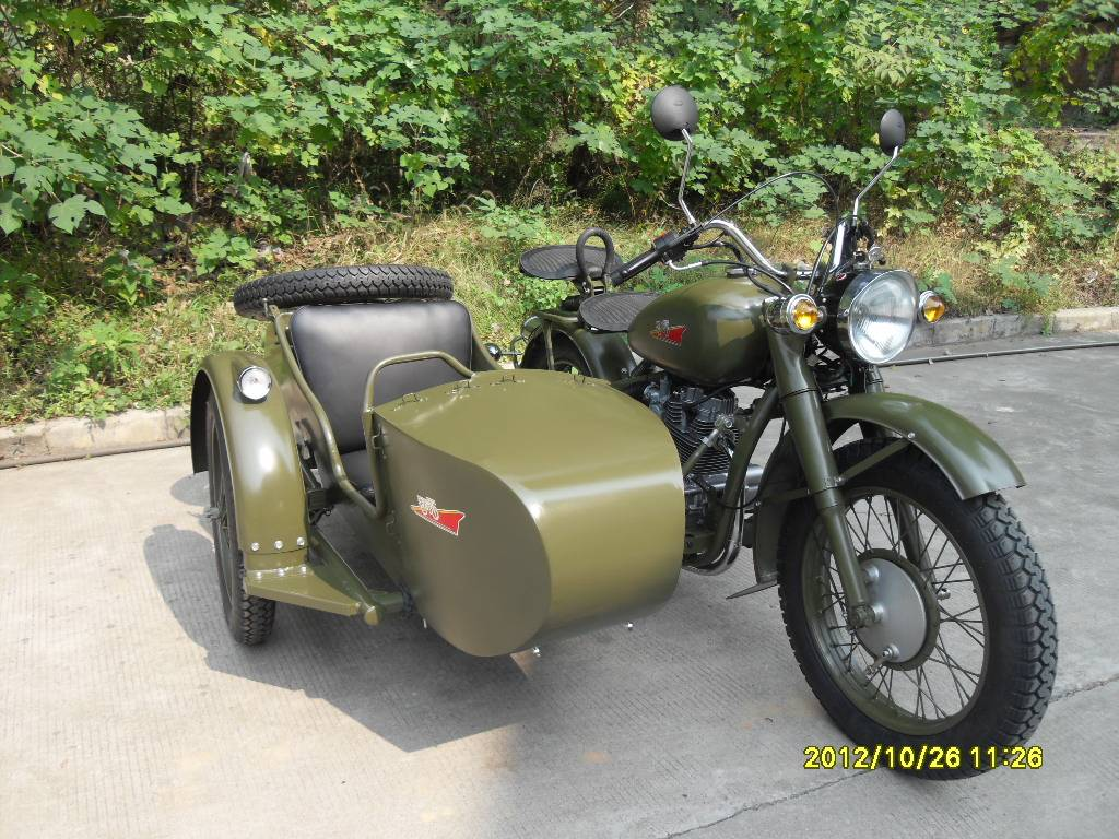 Classic Style Changjiang 250cc Motorcycle Sidecar