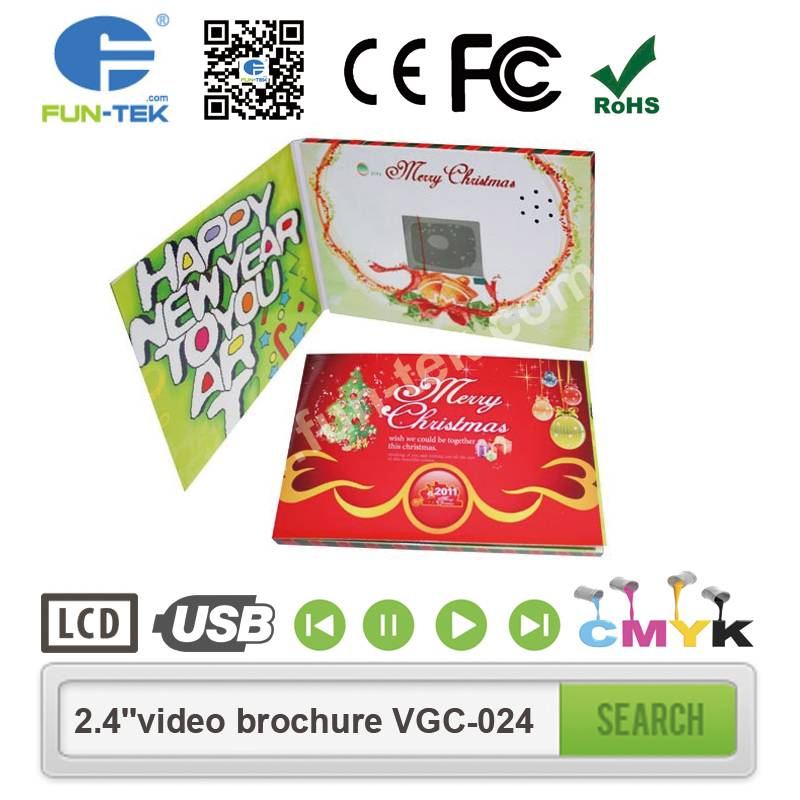 Impressive 2.4 inch Video Business Card LCD Invitation Mailer Promotional Gifts VGC-024