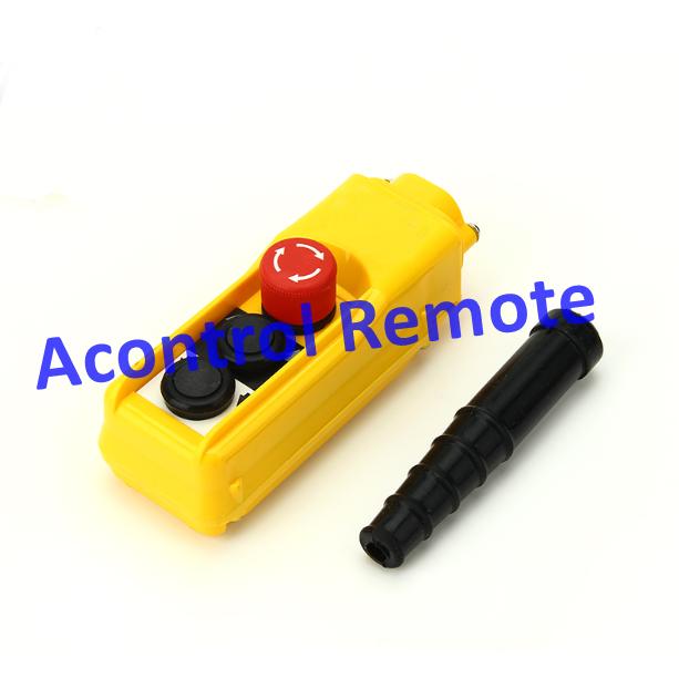 2 button single speed hoist pendant control/push button switch