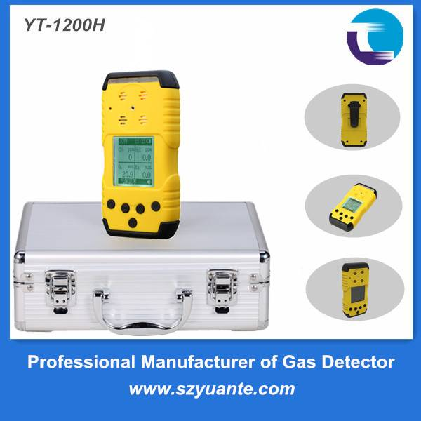 Portable multi gas detector CO/H2S/O2/LEL