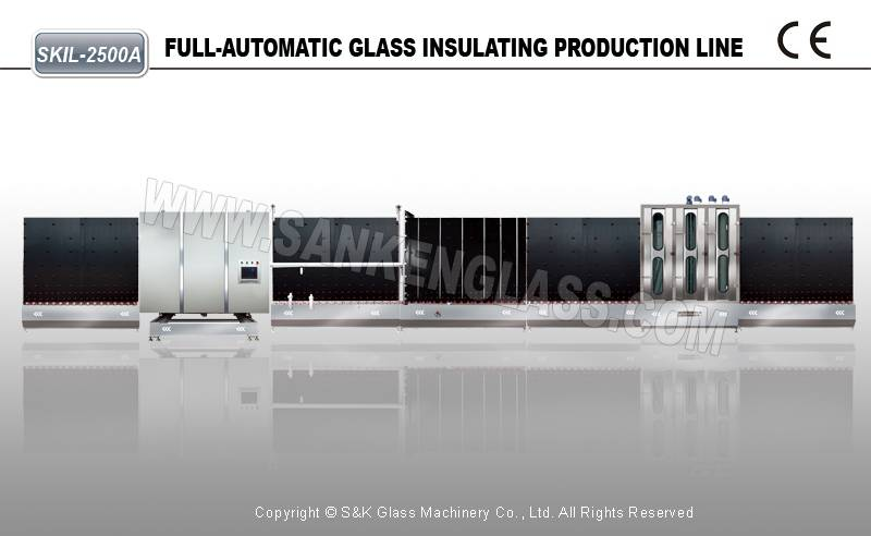 Vertical Insulating Glass Machine For Double Glass