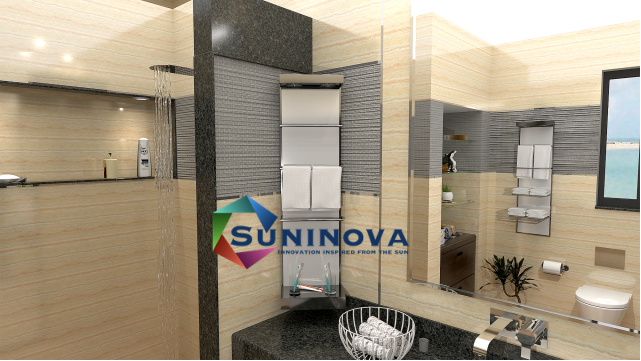 Electric Towel dryer, with towel bars, triple working mode, heat-dry, cool-dry and self-loop drying