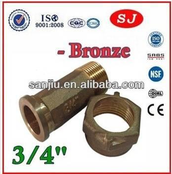 Bronze Water Meter Connectors