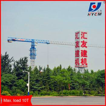Flattop crane TC5515 with 55m boom length and Max.load of 8t