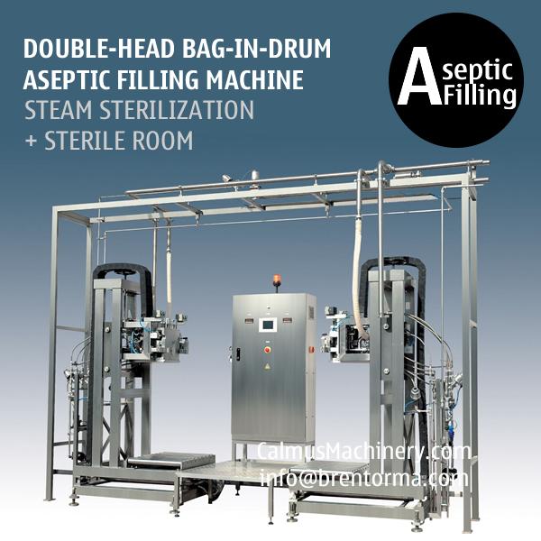 200L BIB Aseptic Filling Machine Double-head Bag in Drum Aseptic Filler
