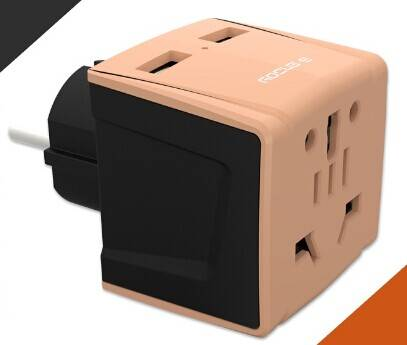 Professional travel adapter multi socket with doulbe USB