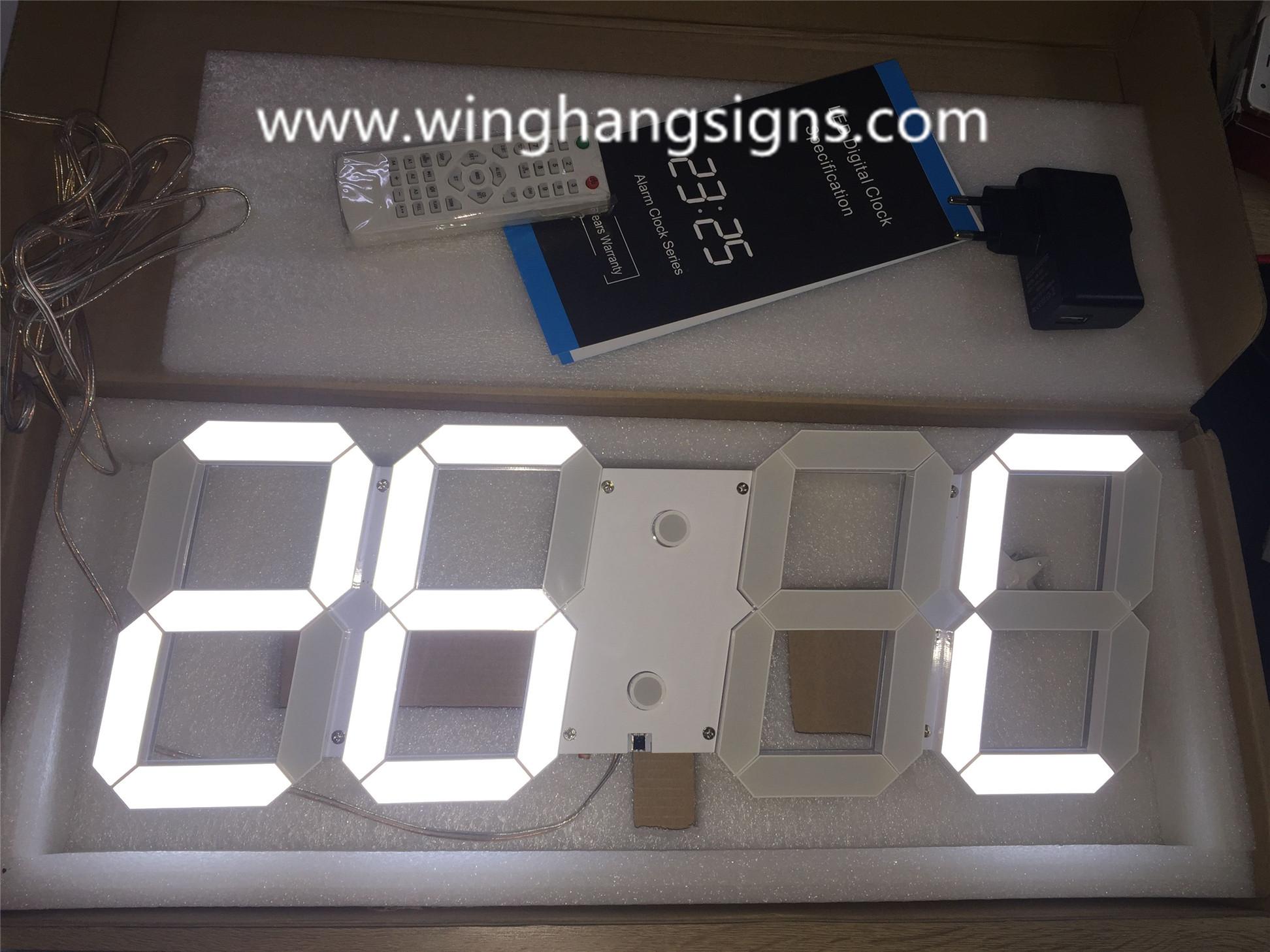 White LED 3D digital Clock 88:88