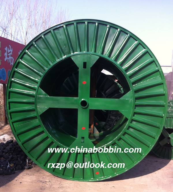 Pressed steel bobbin cable spool for steel wire cable copper corrugated bobbin cable steel