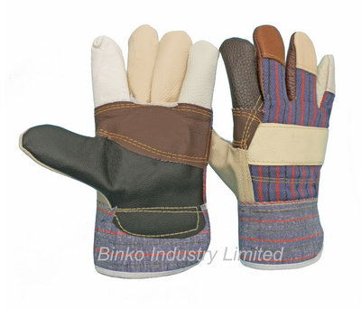 Sell rainbow furniture leather gloves patch palm