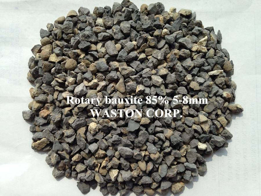 rotary bauxite 85% 5-8mm