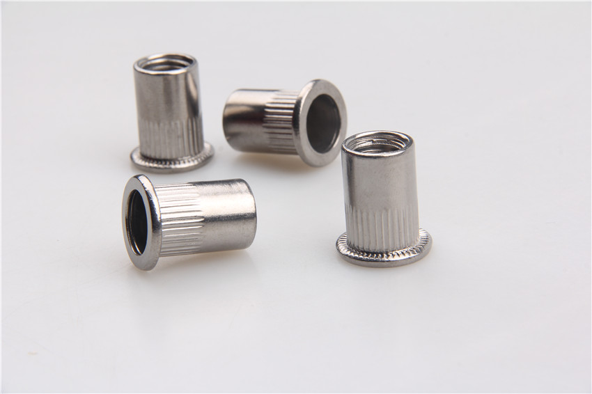 flat head round body close end stainless blind rivet nut