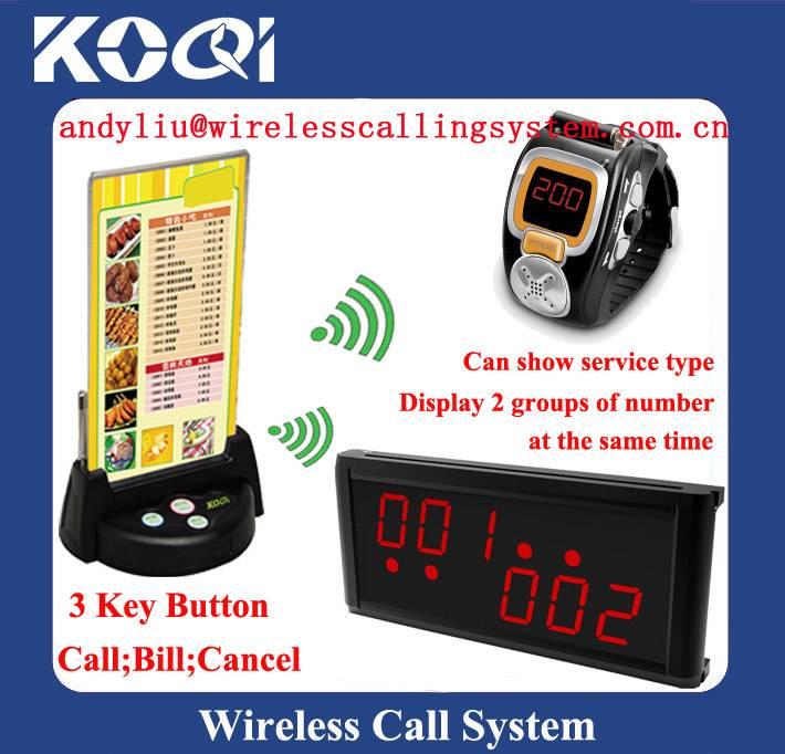 Customer restaurant wireless Service call system K-236+K-200C+G3
