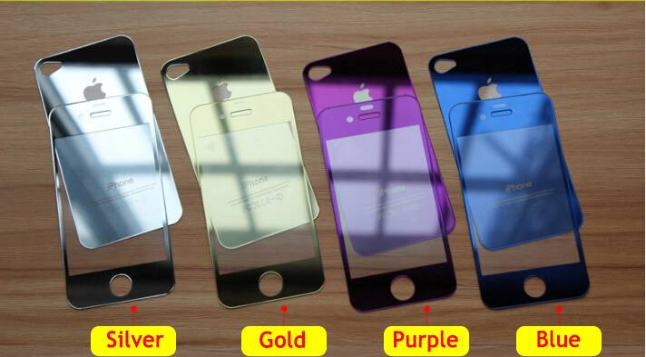 Manufacture price !!!! frame colorful tempered glass for iPhone 6,6plus,5s,4/4s