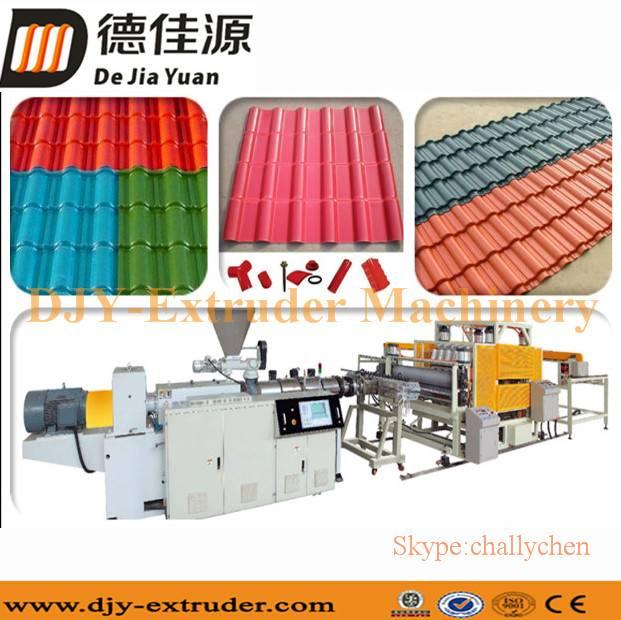 PVC glazed tile extrusion production line