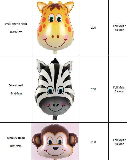 Offer Cartoon & Character & Animal Foil Mylar Helium Balloons