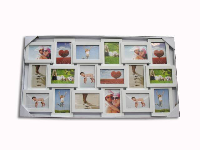 plastic photo frame/picture frame 18pcs