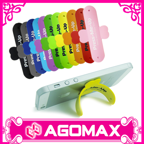 Free samples eco-friendly touch-u silicone phone stand for smartphone