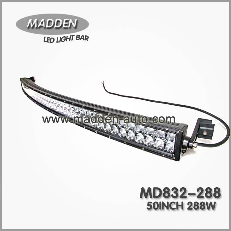 50 Inch 288W Double Row Curved LED Light Bar