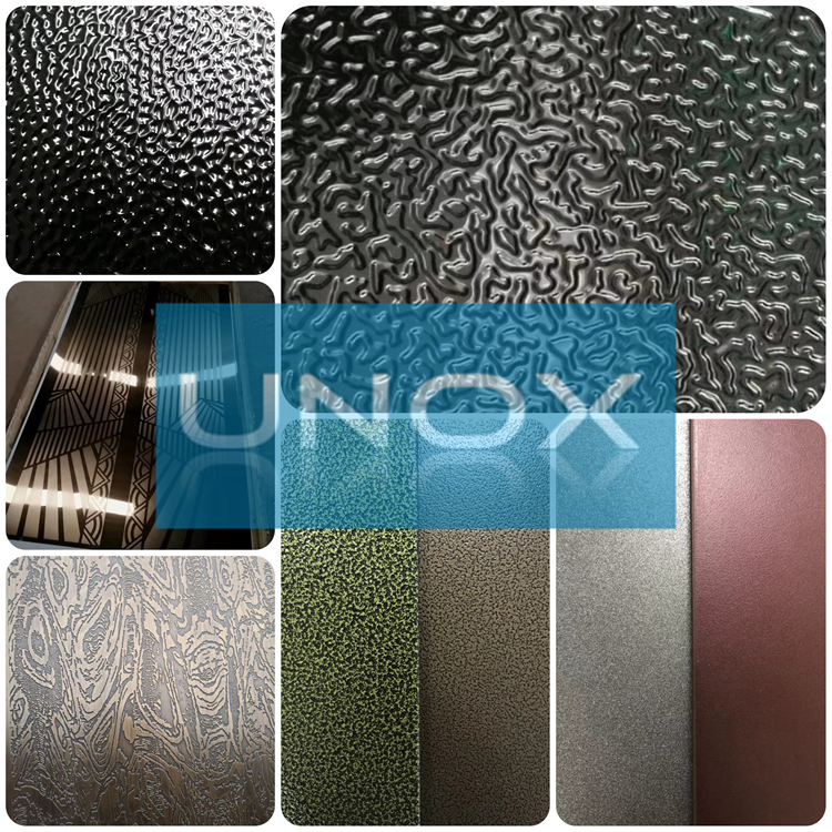 Texture Stainless Steel Decoration Sheets Plate