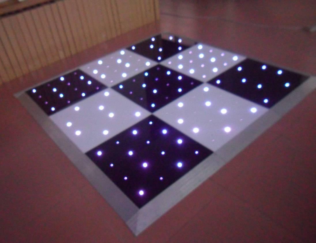 black and white portable twinkling star lite LED RGB dance floor