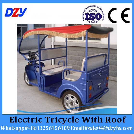500-800W Electric Tricycle Rickshaw Supplier Electric Tricycle With Roof