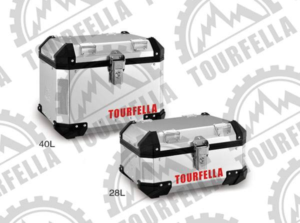 Tourfella alu.motorcycle topcase with quick release system