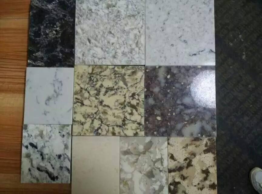 stripe color artificial quartz stone slab