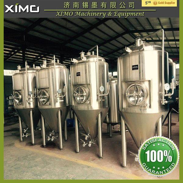 1000L Stainless steel jacketed conical beer Fermentation Tanks