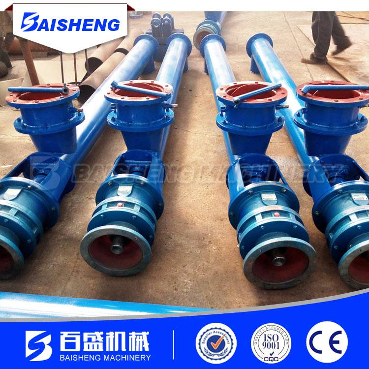 Baisheng 50t/h Flexible Tube Capacity Screw Pipe Roller Conveyor for Grain,Food Processing with Hopp