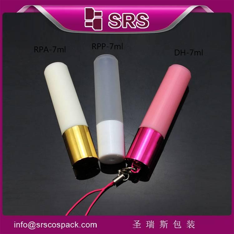wholesale high quality 7ml refillable plastic roll on bottle