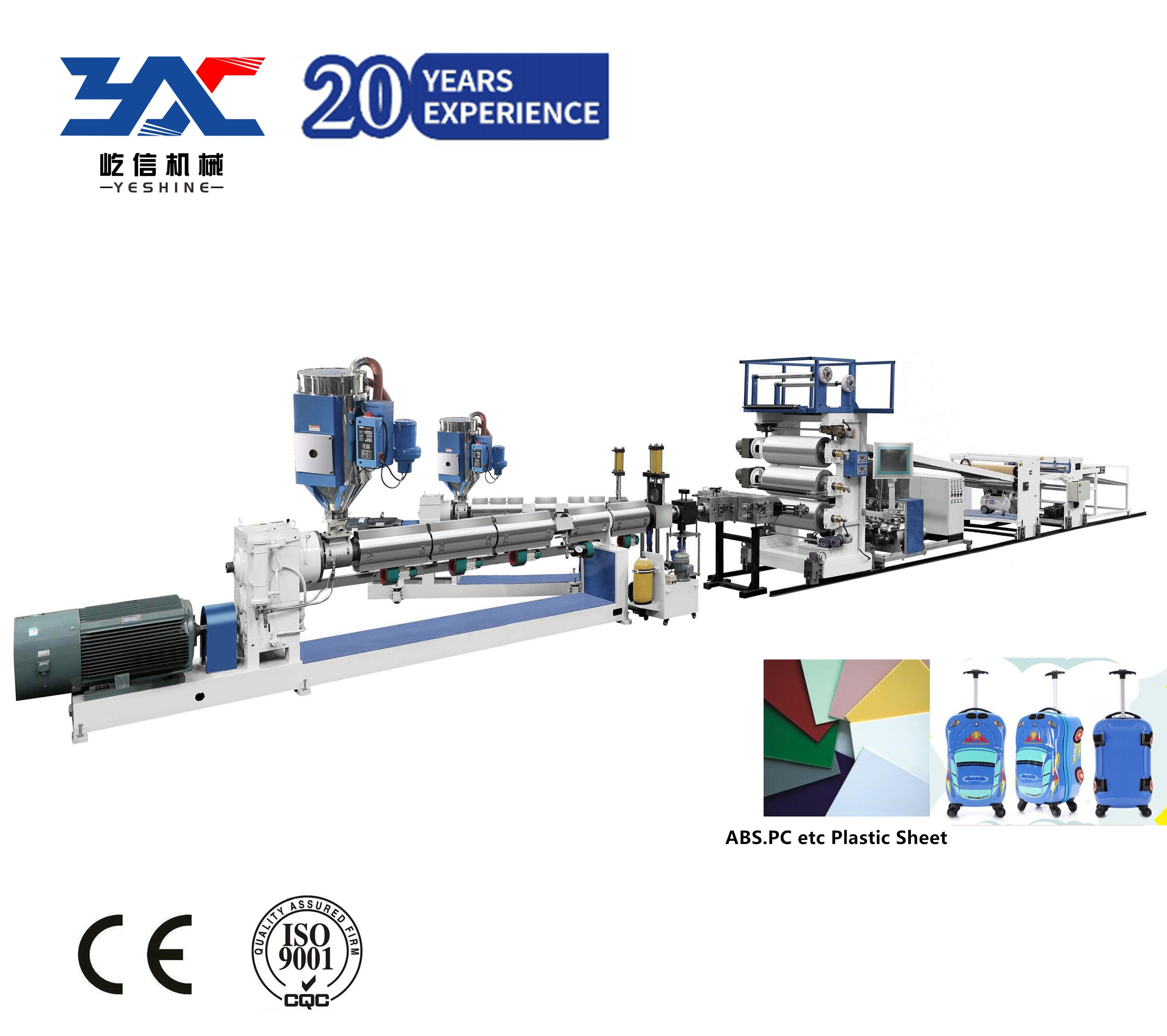 plastic sheet making machinery for bags and suitcase