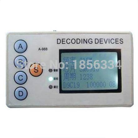 PWcar universal remote control signal receiver 315MHZ/330MHZ/430MHZ/433MHZ remote key code detector