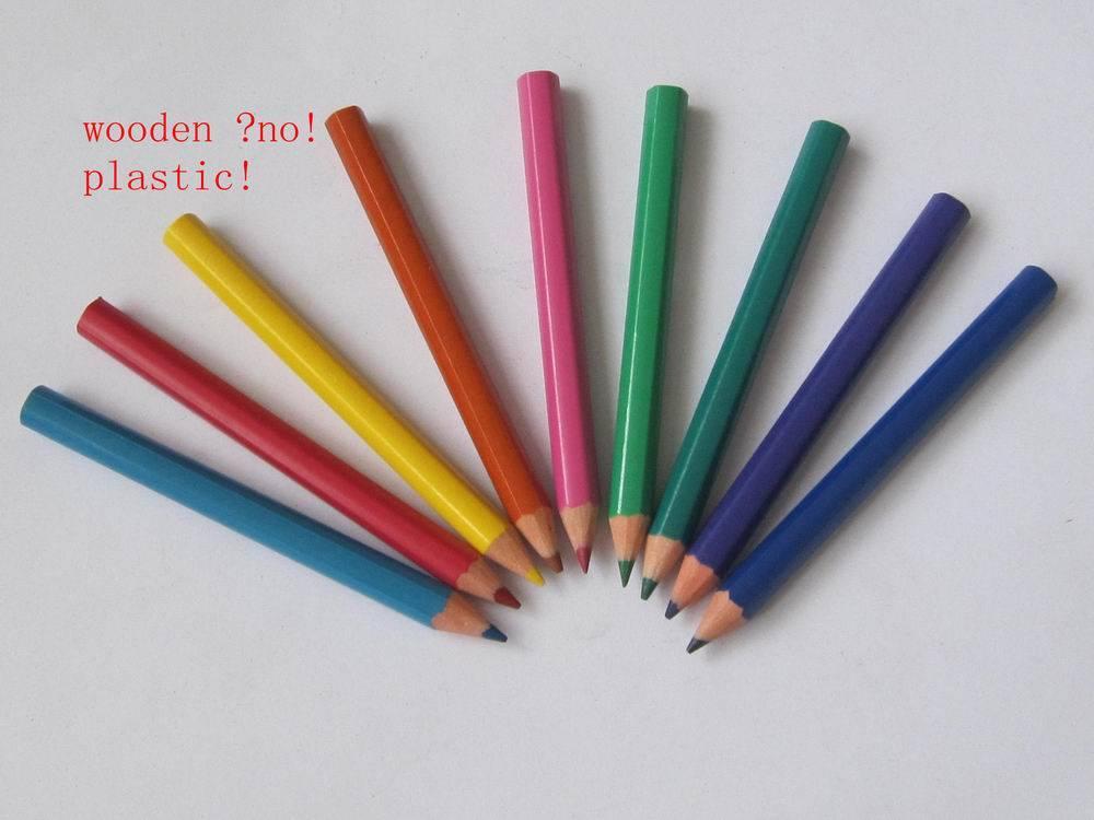 "12 colors3.5""plastic color pencils"