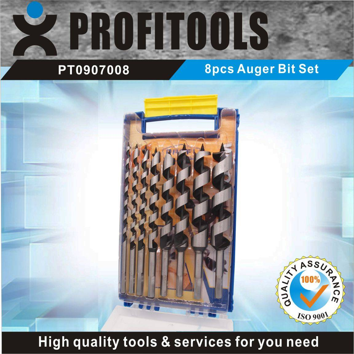 8pcs Professional Auger Bit Set for Wood Working