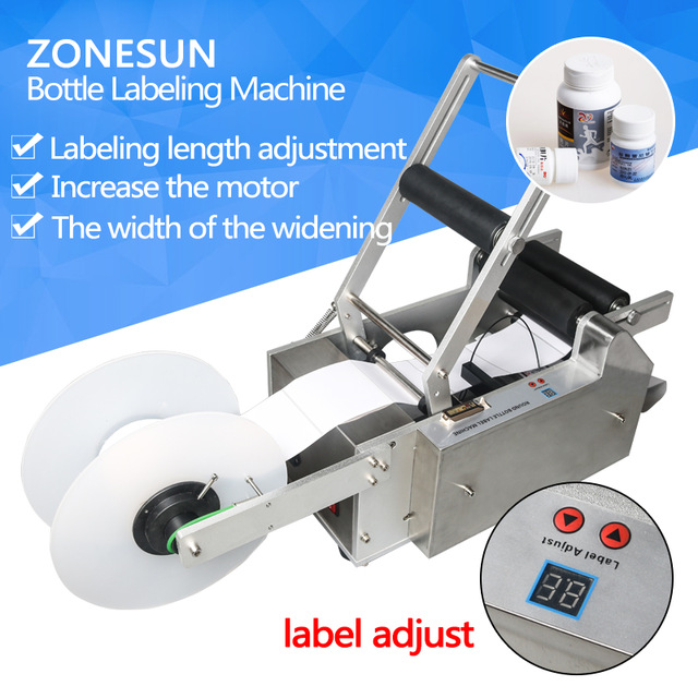 ZONESUN LT-50 Round Plastic bottle labeling machine round bottle sticker machine